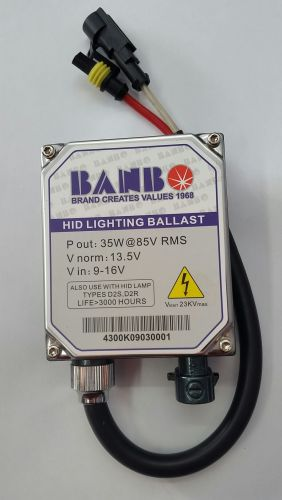 HID BANBO BALLAST REPLACEMENT