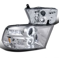 DODGE RAM 1500/2500/3500 2009-2018 CHROME HEADLIGHT