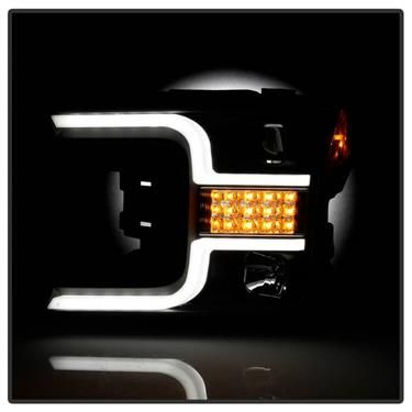 FORD F150 2018-20 SPYDER SEQUENTIAL HEADLIGHT BLACK