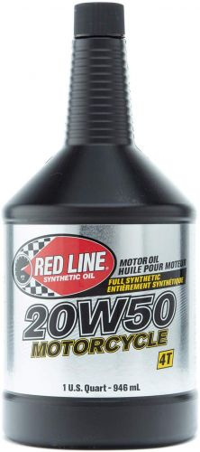 RED LINE SYNTHETIC MOTORCYCLE OIL 20W50