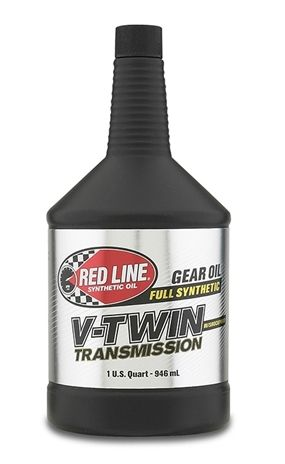 RED LINE SYNTHETIC V-TWIN TRANSMISSION OIL WITH SHOCKPROOF