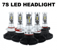 7S LED 12000 LUMENS HEADLIGHT 6000K 72W PAIRE