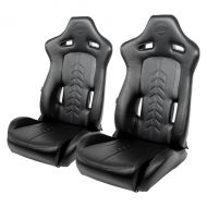 BANC RACING SEAT PAIRE CUIRE PVC PAIRE INCLINABLE