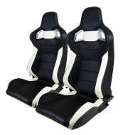 BANC RACING SEAT PAIRE CUIRE PVC