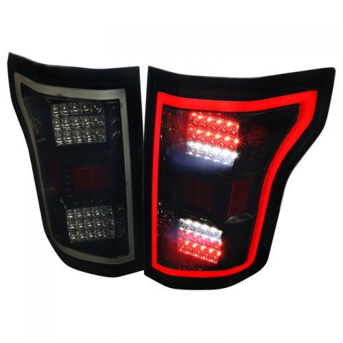 FORD F150 2015-17 LED TAIL LIGHTS BLACK SMOKE LENS