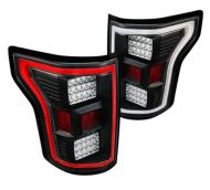FORD F150 2015-17 LED TAIL LIGHTS BLACK
