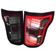 FORD F150 2015-17 LED TAIL LIGHTS RED SMOKE LENS