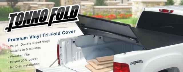 Fits a 97-03 F150 Truck 8ft Bed Tonno Pro Tri Fold Tonneau Cover 42-313